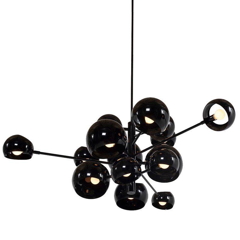 czarna lampa wisząca design nowoczesny