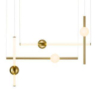 Designerska lampa wisząca O-Line L-4 - złota, LED