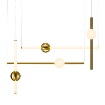 ledowa lampa wisząca nad stół złote tuby
