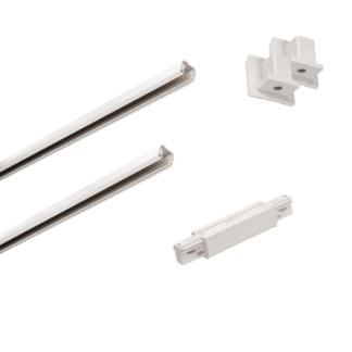 Biały zestaw szynowy Eutrac - 3m, zasilanie środkowe