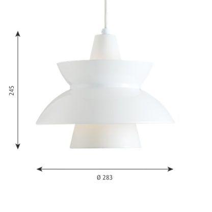 biała lampa wisząca warstwowy klosz