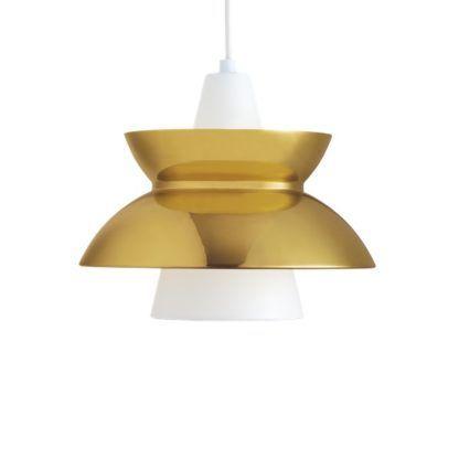 biało-złota lampa wisząca do jadalni