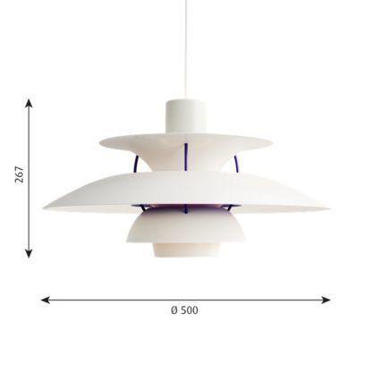 biało-fioletowa lampa wisząca do salonu