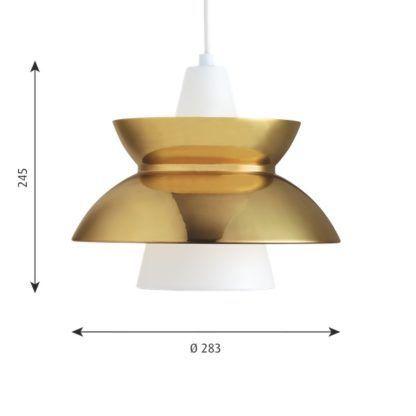 lampa wisząca do salonu złoty klosz