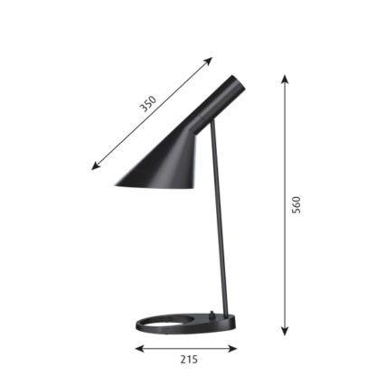 czarna lampa biurkowa do sypialni