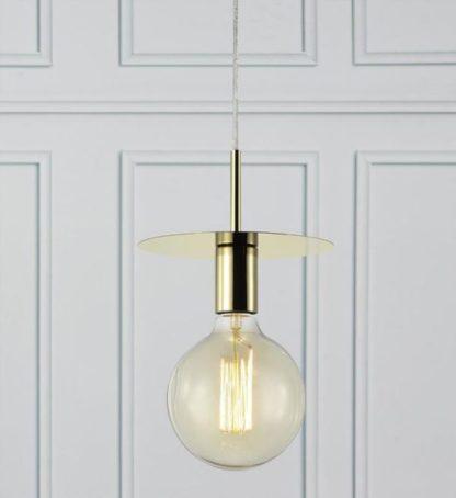 złoty dysk lampa wisząca do sypialni