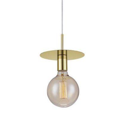złota lampa wisząca dysk