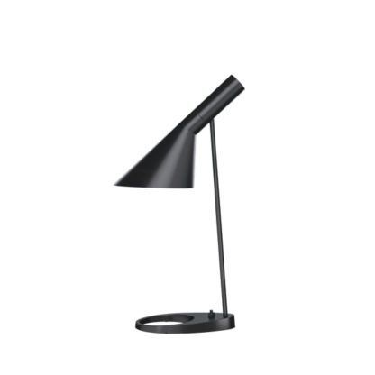 czarna lampa biurkowa designerska