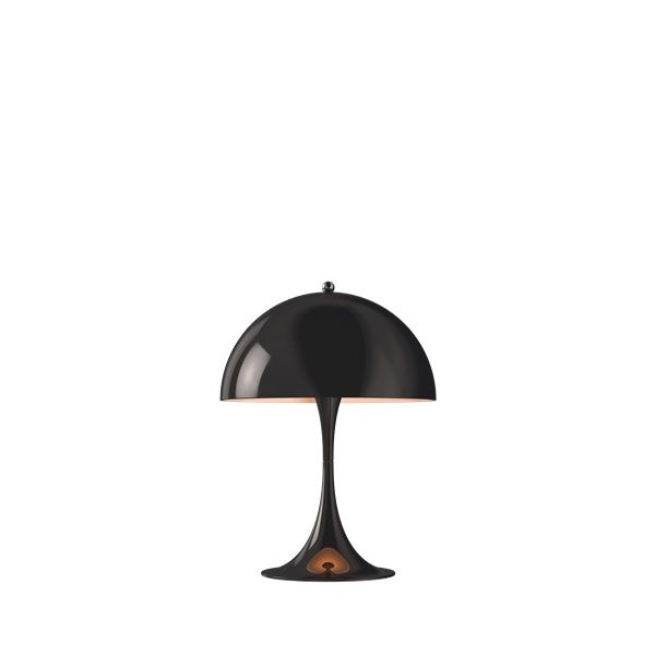 czarna lampka stołowa nowoczesny design