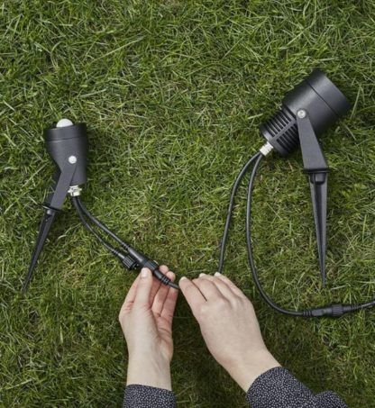 Reflektor ogrodowy Garden 24 - czarny, 3W LED, IP44