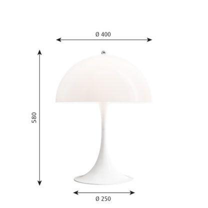 biała lampa stołowa nowoczesny design