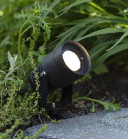 Regulowany spot ogrodowy Garden 24 - 15W, czarny