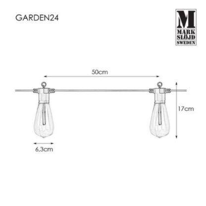 Girlanda ogrodowa Garden 24  - LED, IP44