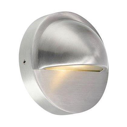 Srebrny kinkiet zewnętrzny Garden 24 - LED, IP44