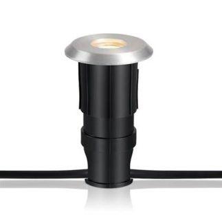 Srebrne oczko wpuszczane Garden 24 - 1W LED, IP44