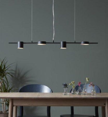Czarna lampa wisząca Row - lampa nad stół