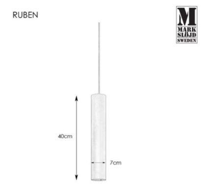 Nowoczesna lampa wisząca Ruben - czarna tuba