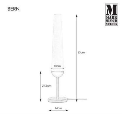 Czarna lampa stołow Bern - szklany klosz