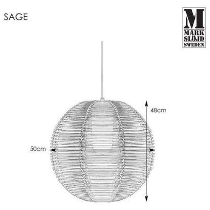 Lampa wisząca Sage - czarna, IP44