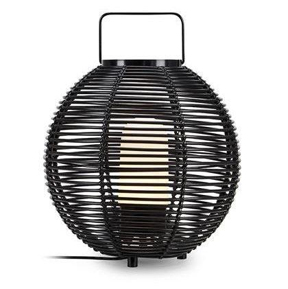 tarasowa lampa stojąca rattan
