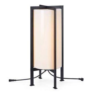 Lampa stojąca Garden 24 - czarna rama, IP44, 54cm