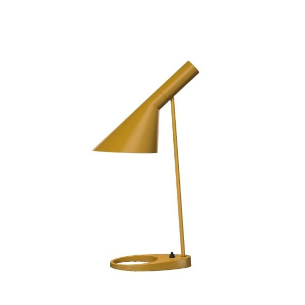 żółta lampa biurkowa