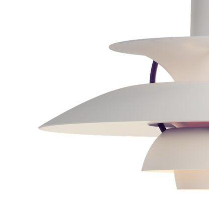 biało-fioletowa lampa wisząca nowoczesna forma