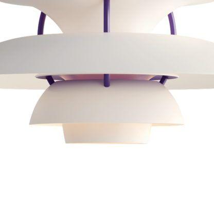 biało-fioletowa lampa wisząca do kuchni