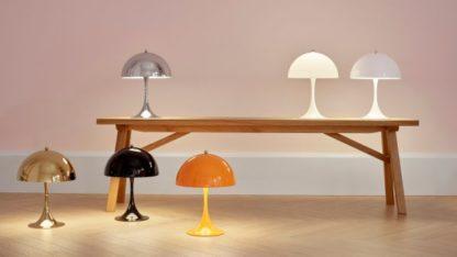 desigernskie lampy stołowe klosze półkule