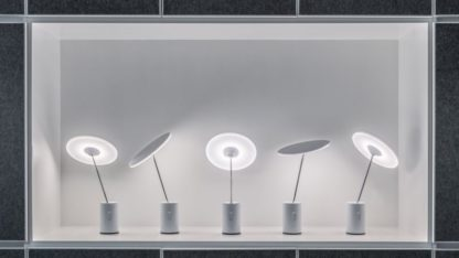 Designerska lampa stołowa Sisifo - dotykowy włącznik, ściemniacz