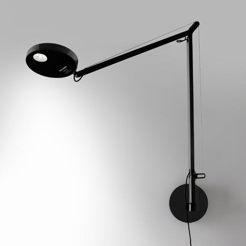 Czarny kinkiet Demetra Parete - regulowany, ze ściemniaczem