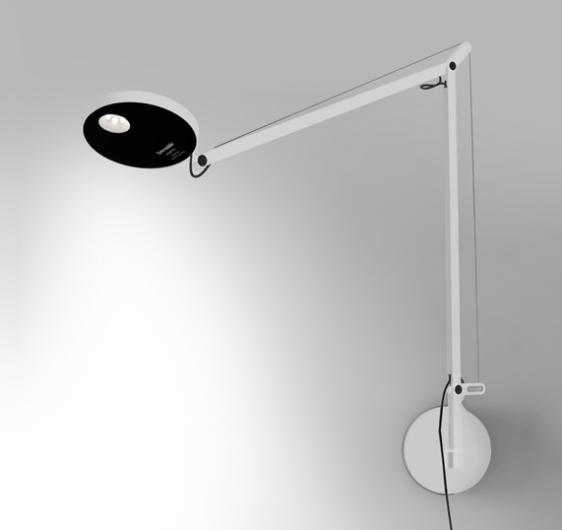Biały kinkiet Demetra Parete -  zintegrowany LED, czujnik ruchu