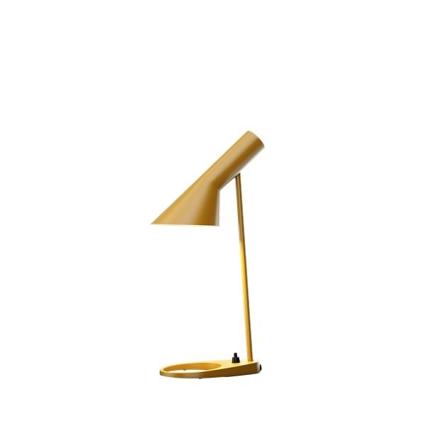 żółta lampa biurkowa nowoczesna