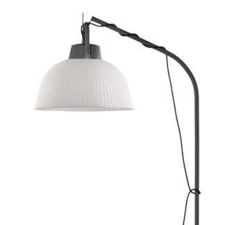 Lampa wisząca Kinké - prążkowany klosz, z wtyczką, IP65
