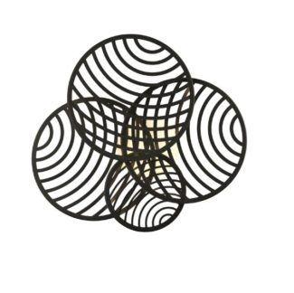 Czarna lampa sufitowa Collage - ażurowe klosze, LED