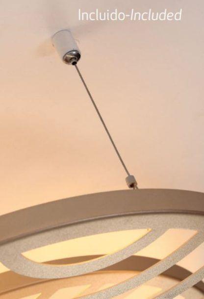 ledowa lampa z ażurowymi kloszami dekoracyjna