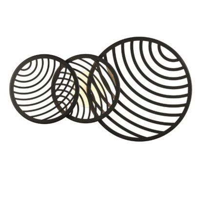 czarna lampa sufitowa dekoracyjne ringi