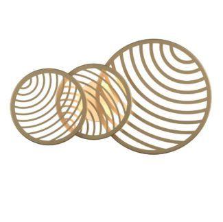 Złota lampa sufitowa / kinkiet Collage - ażurowe klosze, LED