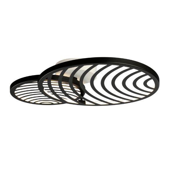 Czarna lampa sufitowa / kinkiet Collage - ażurowy klosz, LED
