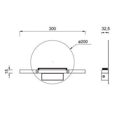 Dekoracyjny kinkiet Eris - czarny, zintegrowany LED