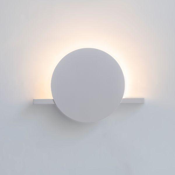 Biały kinkiet Eris - podświetlenie LED