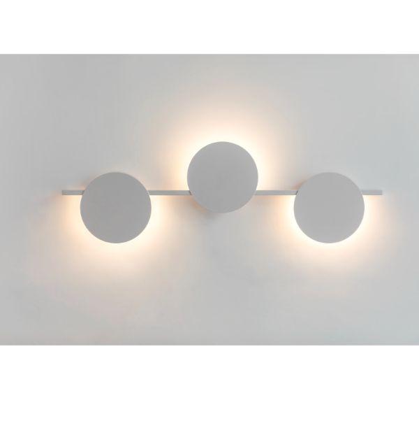 Długi kinkiet Eris - biały, 3 koła LED