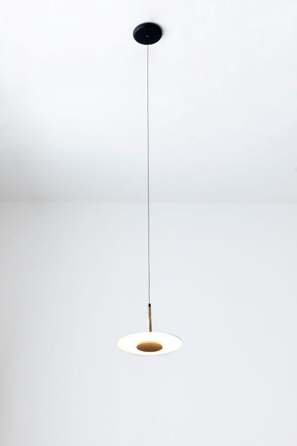 Nowoczesna lampa wisząca Orion - czarny klosz, LED