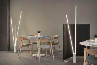 Podwójna lampa podłogowa Vertical - białe listwy