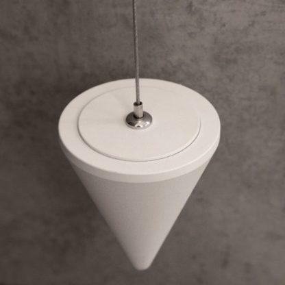 Biała lampa wisząca Vertical - wysoka, 3000K