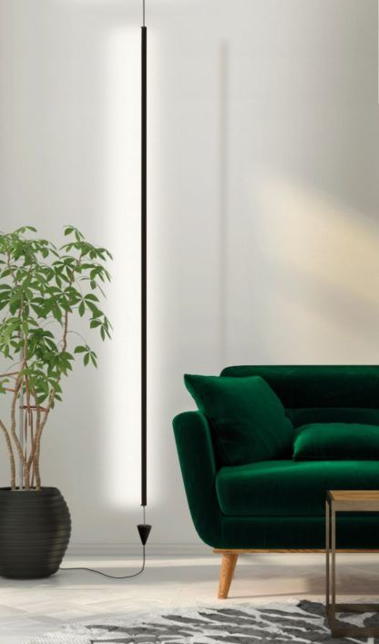 Lampa wisząca Vertical - LED, czarna oprawa, 3000K