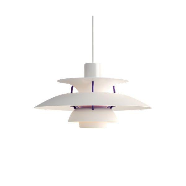 nowoczesny kształt lampa wisząca biel i fiolet