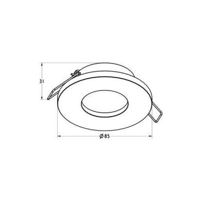 Białe oczko sufitowe Chipa DL - podtynkowe, GU10, IP54