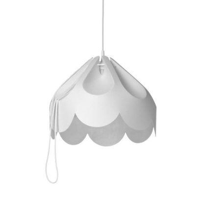 Nastrojowa lampa wisząca Beza 2 - biały klosz