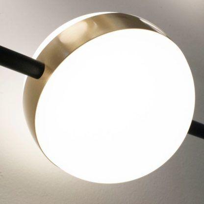 Nowoczesna lampa stołowa Cuba - mleczny klosz, LED